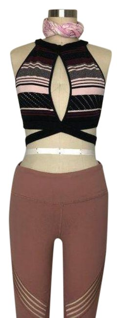 Item - Pink Black Fp Movement Cut Out Stripe X Performance Activewear Sports Bra Size 4 (S, 27)