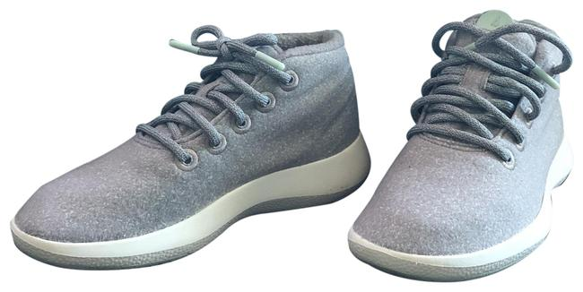 Item - Gray with Green Details Women's Wool Runner-up Mizzels Sneakers Size US 8 Wide (C, D)