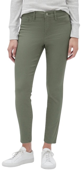 Item - Green Medium Wash 1969 Leggings Olive Color Womens Mid Rise Stretch Skinny Jeans Size 6 (S, 28)