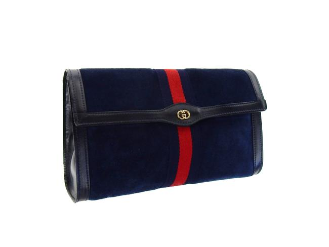 Item - Navy Blue Toiletry Suede Leather Travel Dopp Cosmetic Bag