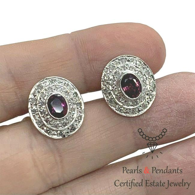 Item - Red Diamond Sapphire Cufflinks 2.80 Tcw Certified