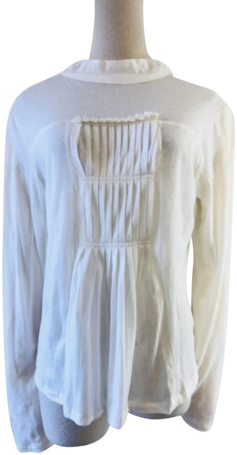 Item - White Pleated Pullover Tee Shirt Size 6 (S)