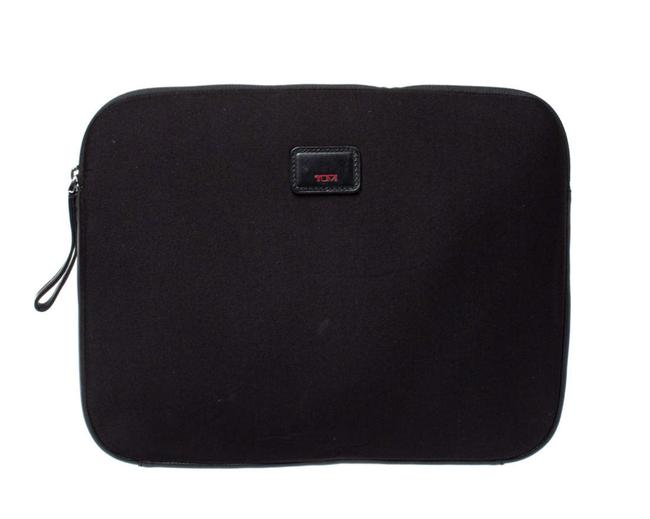 Item - Cover Black Neoprene and Leather Laptop Bag