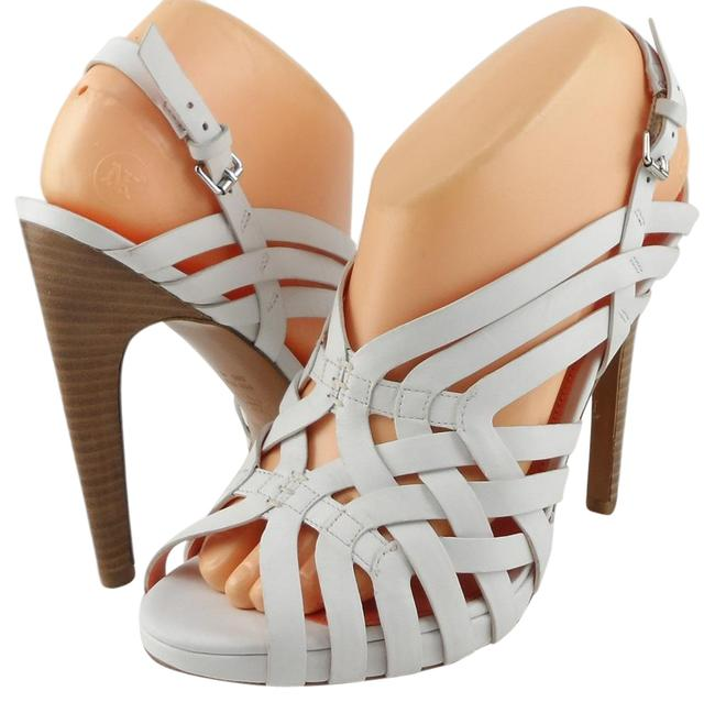 Item - White Phoebe Leather Strappy Stacked Sandals Size US 8.5 Regular (M, B)