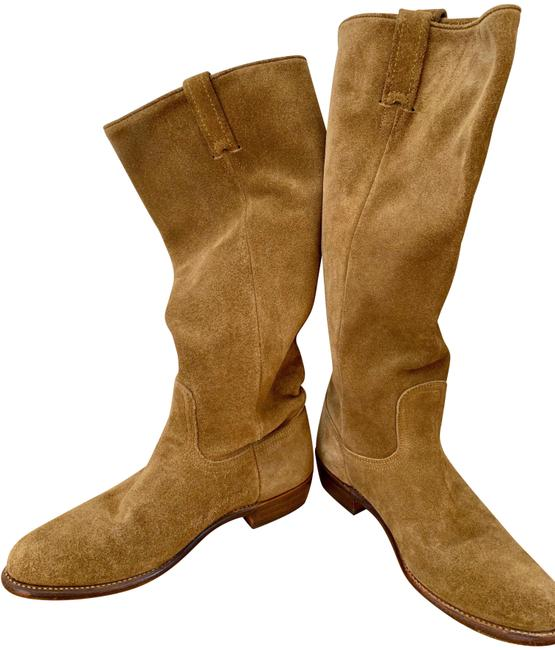 Item - Sand/Tan Bari Tall Slouch Suede Boots/Booties Size US 8 Regular (M, B)