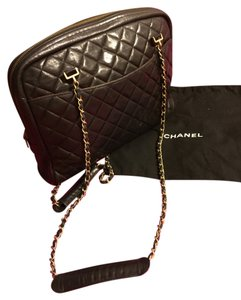 Chanel Vintage Leather Lambskin Chain Matelasse Quilted Shoulder Bag