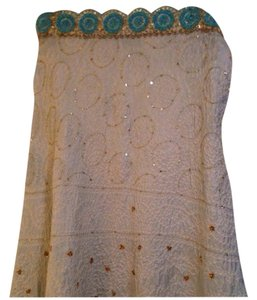 Sage Skirt Blue and Gold