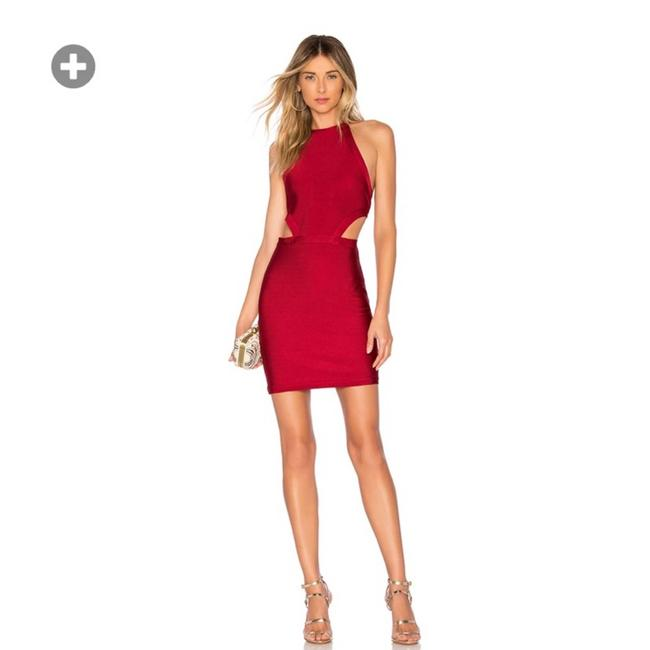 Item - Red Jill Cut Out Halter Bodycon Dress In Raspberry Small Blouse Size 4 (S)