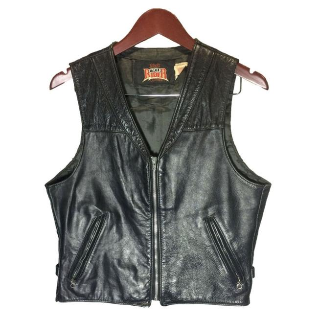 Item - Black Cycle Rider Leather Motorcycle Women's Vest Size 10 (M)