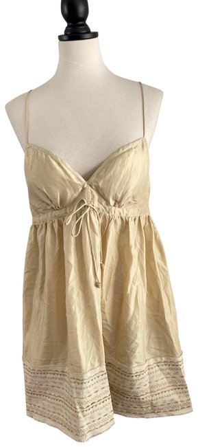 Item - Silk Embroidered Short Cocktail Dress Size 8 (M)