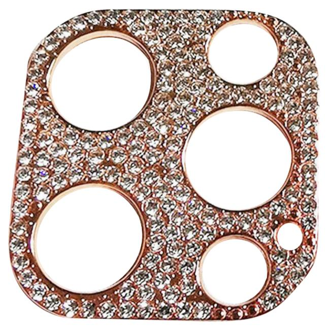Item - Rose Gold 2021 Ultra Luxe Premium Swarovski Crystals Camera Lens Protective Over For Iphone 12 Pro and Iphone 12 Pro Max Tech Accessory