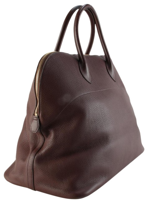Item - Bolide Taurillon Clemence 45 Rouge H Burgundy Leather Weekend/Travel Bag