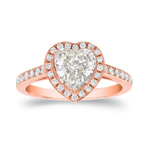 18k Rose Gold 1 4/5ct Tdw Certified Heart Diamond Engagement Ring (i Vs2)