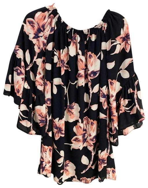 Item - Floral Off Shoulder Chiffon Bell Sleeve Peasant Dress M Blouse Size 8 (M)