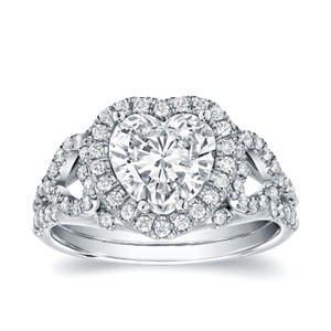 18k White Gold 1 7/8ct Tdw Certified Heart-shaped Diamond Engagement Ring (d Vs1)