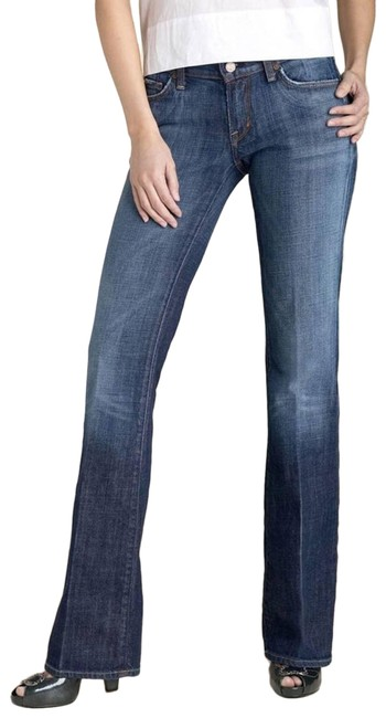 Item - Blue Medium Wash Kelly Women's Stretch Boot Cut Jeans Size 27 (4, S)