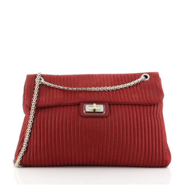 Item - Mademoiselle Classic Flap Bijoux Chain Vertical Quilted Iridescent Calfski Red Leather Cross Body Bag