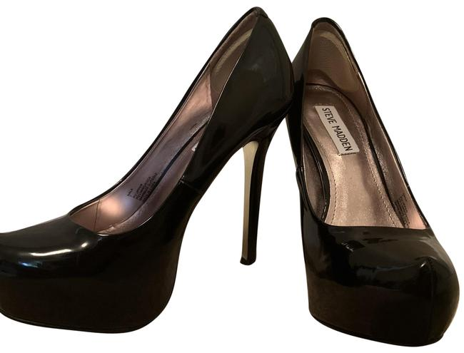 Item - Black Patent Leather Pumps Size US 7 Regular (M, B)