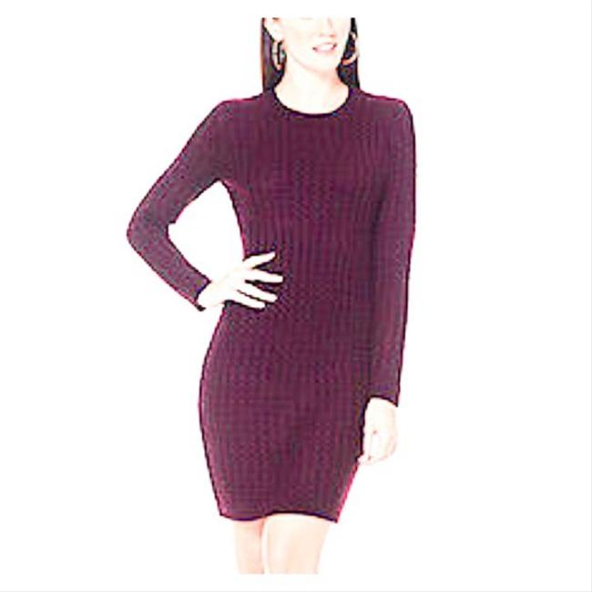 Item - Burgundy Cable Knit Sweater Mid-length Work/Office Dress Size 4 (S)