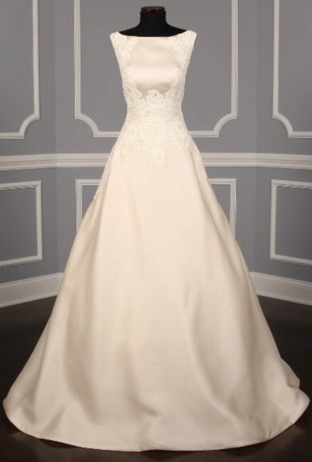 Item - Pearl/Pearl Satin/Lace Devoted Formal Wedding Dress Size 4 (S)