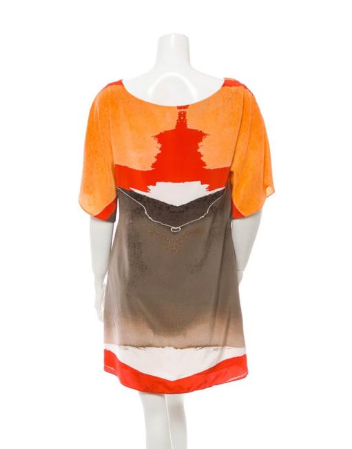 Item - Terracotta Olive and Brown Shift Short Casual Dress Size 8 (M)