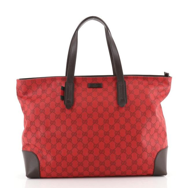 Item - Zip Large Red Canvas Tote
