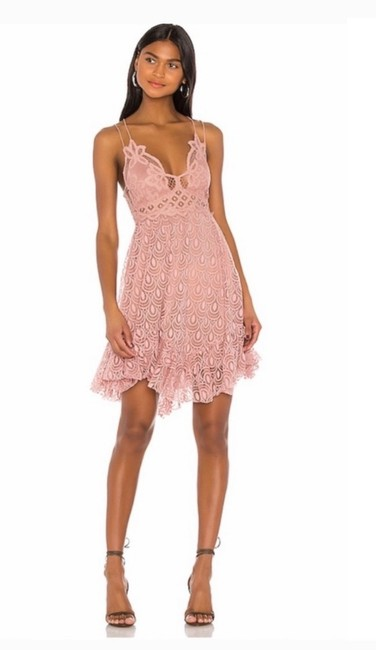 Item - Pink Adella Burnout Short Casual Dress Size 12 (L)