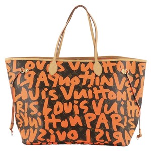 Item - Neverfull Graffiti Limited Edition Monogram Gm Brown Coated Canvas Tote