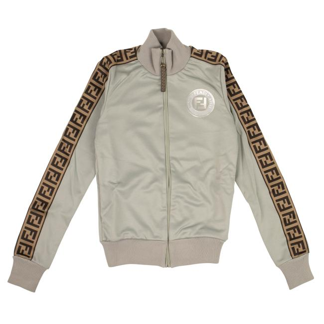 Item - Gray/Tobacco Polyester Ff Track Jacket Size 0 (XS)