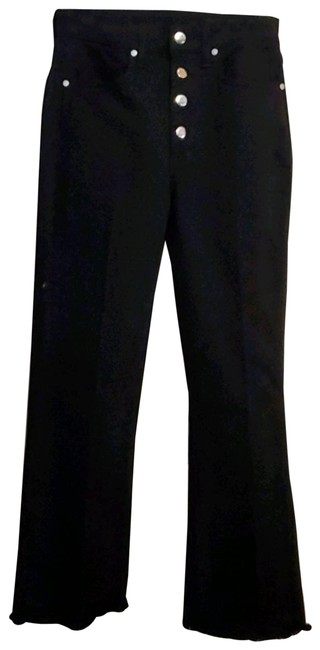 Item - Black Hi Rise Justine Ankle Button Fly Capri/Cropped Jeans Size 24 (0, XS)