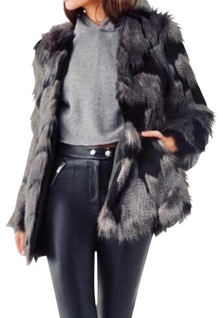 Item - Gray/Black Two-toned Faux Coat Size 10 (M)
