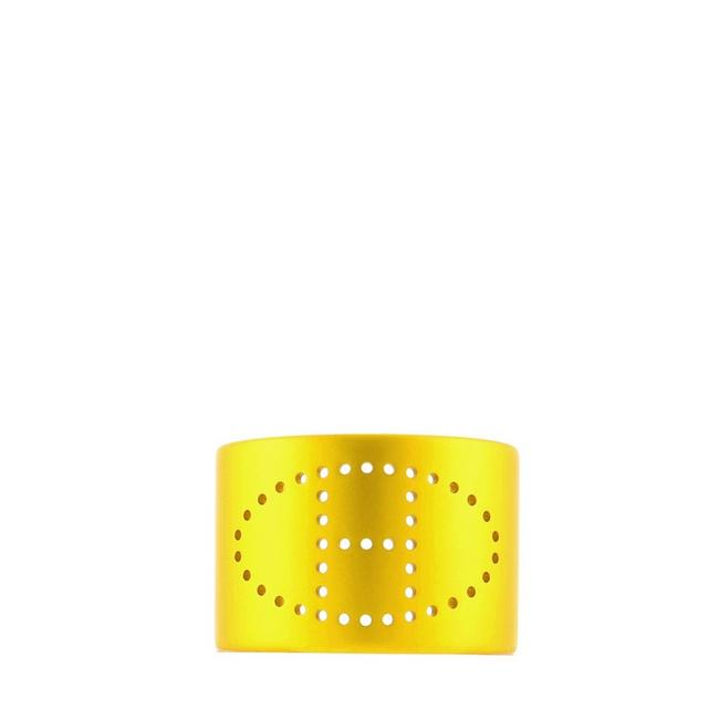 Item - Yellow Evelyne Cuff Brushed Metal Small Bracelet
