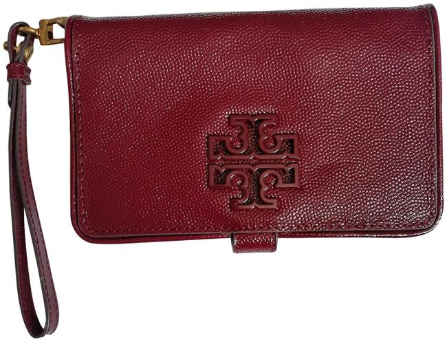 Item - Britten Patent Smartphone Wallet Red Agate Leather Wristlet