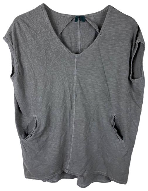 Item - Gray Left Of Center Tunic with Pockets Small Blouse Size 4 (S)