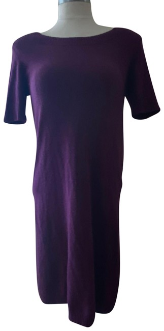 Item - Purple Cashmere Mid-length Work/Office Dress Size 0 (XS)
