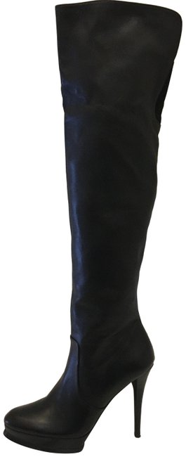 Item - Black Over The Knee Boots/Booties Size US 8.5 Regular (M, B)