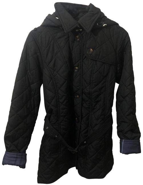 Item - Black Tartan Collection Quilted Belted Jacket Coat Size 8 (M)