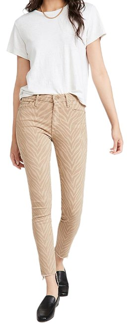 Item - Beige The Looker Ankle Fray Denim Skinny Jeans Size 4 (S, 27)