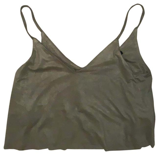 Item - Olive Green Cropped Tank Top/Cami Size 0 (XS)