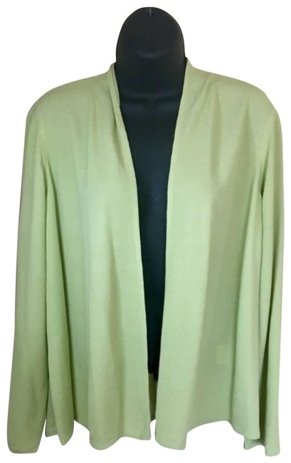 Item - Green Citron Crinkle Rayon Cardigan Size 8 (M)