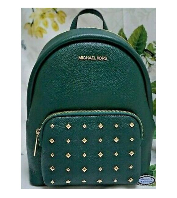 Item - Studded Medium In Racing Green Leather Backpack