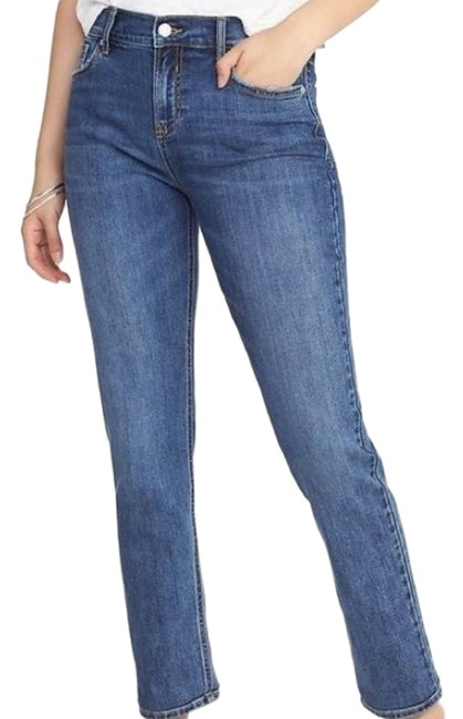 Item - Blue Medium Wash Womens The Power Perfect Straight Ankle Polly Skinny Jeans Size 27 (4, S)