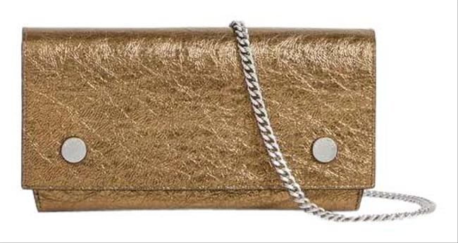 Item - Chain Wallet Gold Leather Cross Body Bag
