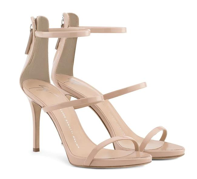 Item - Nude Pink Harmony 90 Patent Leather Sandals Size EU 40 (Approx. US 10) Regular (M, B)