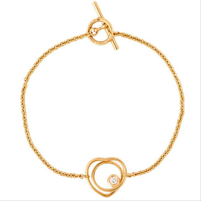 Item - Pink Gold Vertige Cool Diamond K18 Heart Bracelet