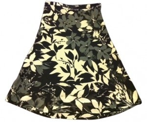 H&M Skirt Black/Grey/Ivory