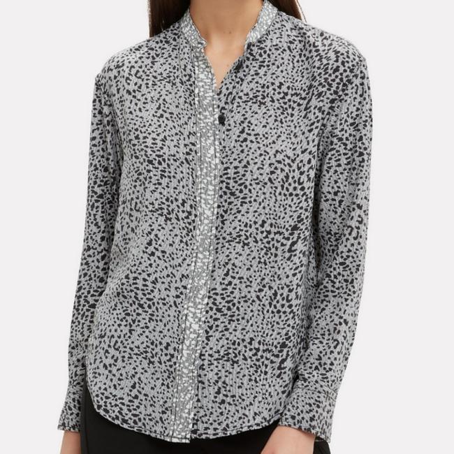 Item - Gray Christie Cheetah Print Blouse Size 8 (M)