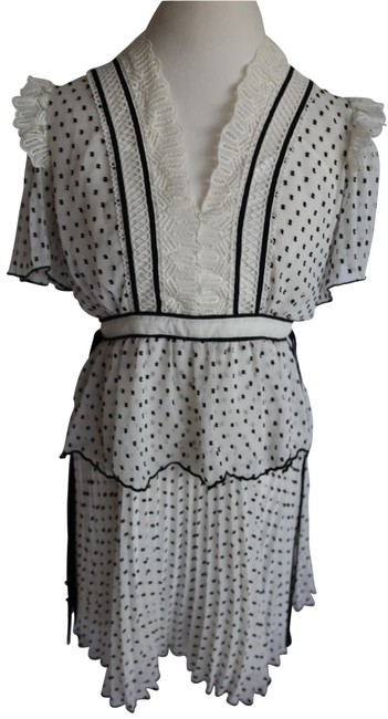 Item - Black and White Sp17-051 Short Casual Dress Size 10 (M)