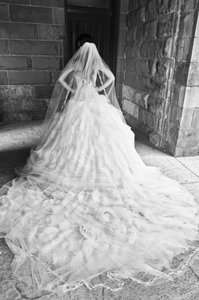 Ines Di Santo Custom Wedding Dress
