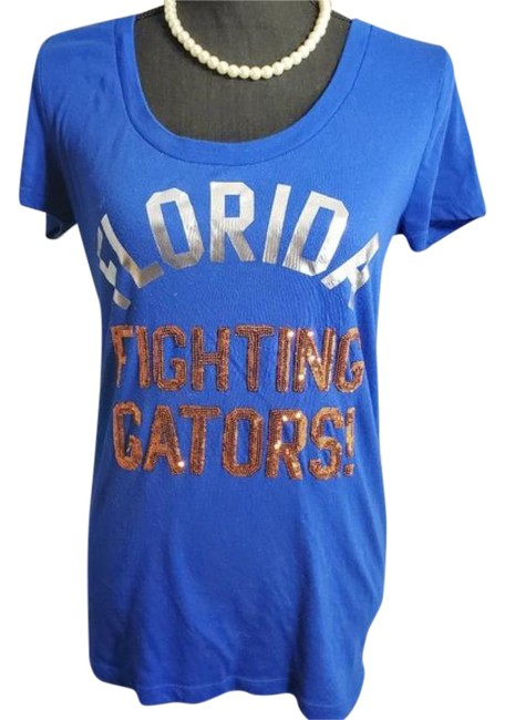 Item - Blue Orange Florida Fighting Gators T-shirt Tee Shirt Size 8 (M)